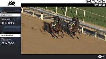 Cruel Intention (Outside) and Once On Whiskey Worked 5 Furlongs in 59.60 at Santa Anita Park on December 30th, 2020