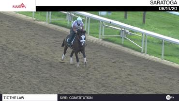 Tiz The Law Galloped at Saratoga on August 14th, 2020