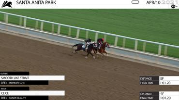 Smooth Like Strait (Outside) and Ce Ce Worked 5 Furlongs in 1:01.20 at Santa Anita Park on April 10th, 2021