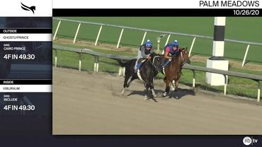 Ghostlyprince (Outside) and Viburnum Worked 4 Furlongs in 49.30 at Palm Meadows on October 26th, 2020
