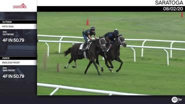 Fifth Risk (Outside) and Endless Front Worked 4 Furlongs in 50.79 at Saratoga on August 2nd, 2020