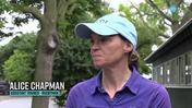 Graham Motion's Assistant Trainer Alice Chapman Discusses the Addition of Blinkers for Rugbyman in the Dwyer Stakes at Belmont Park