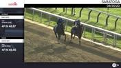 First Rate (Outside) and Union Gap Worked 4 Furlongs at Saratoga on August 30th, 2020