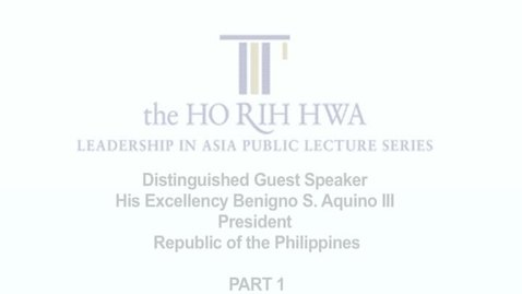 Thumbnail for entry Speaker: Mr Benigno S. Aquino III (11 Mar 2011)