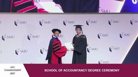 Thumbnail for entry SMU Commencement 2017 - School of Accountancy Undergraduate Ceremony