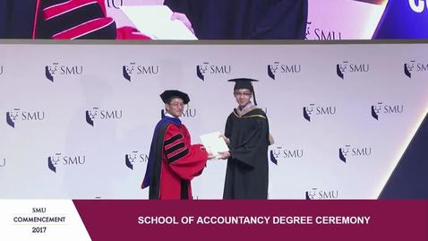 SMU Commencement 2017 - School of Accountancy Undergraduate Ceremony