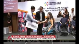 Thumbnail for entry Asian Para Games Awards Ceremony