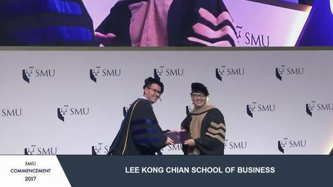 Thumbnail for entry SMU Commencement 2017 - Lee Kong Chian School of Business Postgraduate Ceremony