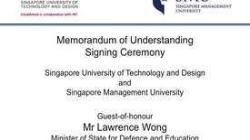 Thumbnail for entry SMU and SUTD MOU