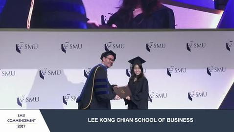 Thumbnail for entry SMU Commencement 2017 - Lee Kong Chian School of Business Undergraduate Ceremony 3
