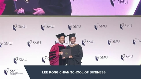 Thumbnail for entry SMU Commencement 2017 - Lee Kong Chian School of Business Undergraduate Ceremony 2