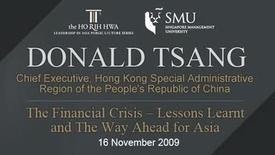 Thumbnail for entry Speaker: Donald Tsang (16 Nov 2009)