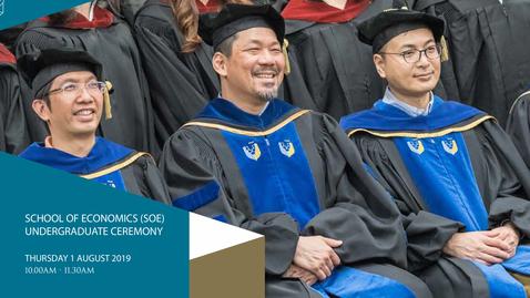 Thumbnail for entry School of Economics Undergraduate Ceremony 2019