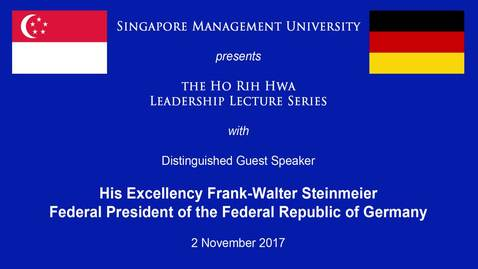 Thumbnail for entry Speaker: Frank-Walter Steinemeier (2 Nov 2017)