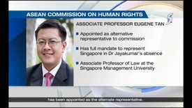 Thumbnail for entry Asean Commission on human rights -New Singapore representatives appointed, Channel 5 (News 5 Tonight, 9pm), 1 Jan 2019