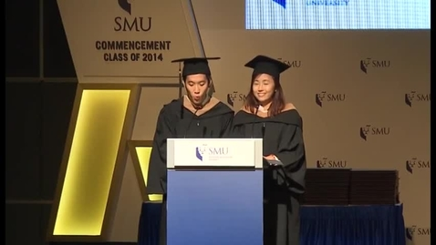 Thumbnail for entry SMU Commencement 2014 Lee Kong Chian School of Business Undergraduate (2) Commencement Ceremony