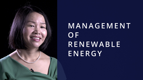 Management of Renewable Energy