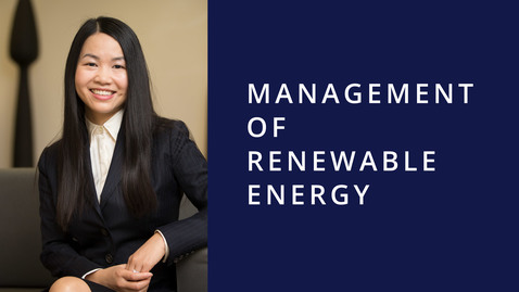 Thumbnail for entry Management of Renewable Energy