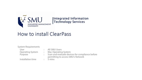 ClearPass for Macintosh