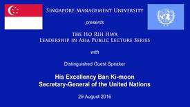 Thumbnail for entry Speaker: Ban Ki-moon (29 Aug 2016)