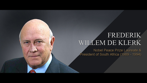 Thumbnail for entry Speaker: Frederik Willem de Klerk (25 Mar 2013)