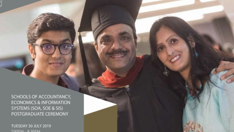 Thumbnail for entry Schools of Accountancy, Economics and Information Systems Postgraduate Ceremony 2019