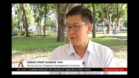 Thumbnail for entry Who will be the next Workers' Party chief - Interview with SMU Associate Professor of Law Eugene Tan, Channel NewAsia (Singapore Tonight, 10pm), 11 Nov 2017