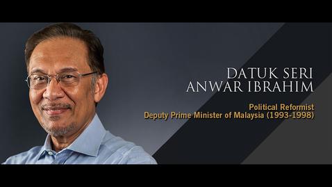 Thumbnail for entry Speaker: Datuk Seri Anwar Ibrahim (20 Sept 2018)