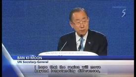 Thumbnail for entry UN-Secretary General Ban Ki-Moon in Singapore_Channel 5