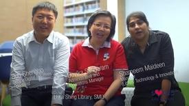 Thumbnail for entry Sun Shengbo, Devika Sangaram, Shameem Maideen, Li Ka Shing Library