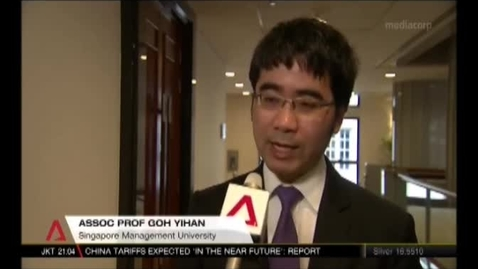 Thumbnail for entry Parliamentary Select Committee public hearings - Assoc Prof Goh Yihan (CNA)