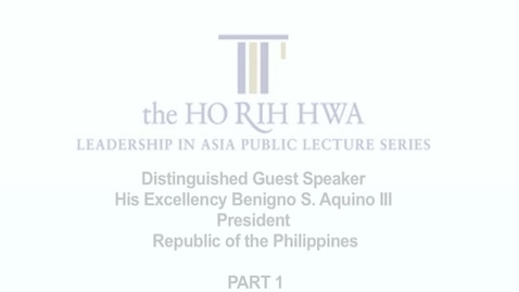 Thumbnail for entry Ho Rih Hwa : President Aquino Part 1