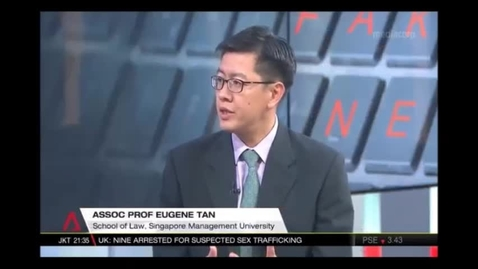 Thumbnail for entry Tackling fake news - Interview with SMU Associate Professor of Law Eugene Tan, Channel NewsAsia (Singapore Tonight, 10pm), 10 Jan 2018
