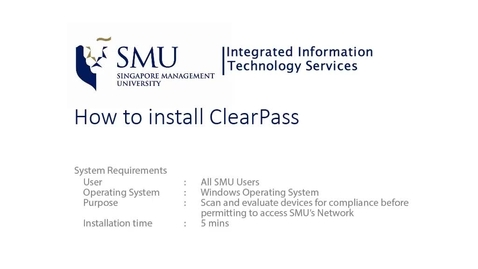 Thumbnail for entry ClearPass for Windows