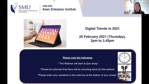 Thumbnail for entry SME Development Series_Webinar on 25 February 2021 | Digital Trends in 2021