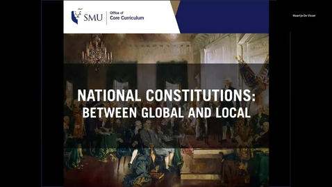 Thumbnail for entry National Constitutions: Between Global and Local