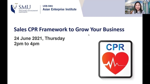 Thumbnail for entry SME Development Series_Webinar on 24 June 2021 | Sales CPR Framework to Grow Your Business