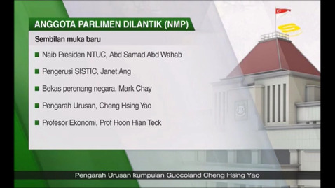 Thumbnail for entry Nine new Nominated Members of Parliament to be appointed, Suria (Berita, 8pm), Jan 14