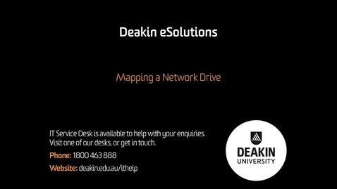 Thumbnail for entry Mapping a Network Drive – KB0010355