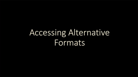 Thumbnail for entry Blackboard Ally: Accessing alternative formats