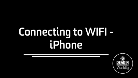Thumbnail for entry Connecting to Eduroam iPhone