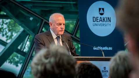 Thumbnail for entry 2018 Deakin Law Oration with Professor Mervyn King SC