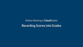 Thumbnail for entry 7 - Recording Scores into the Grades