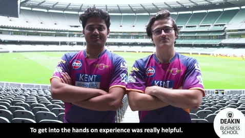 Thumbnail for entry Deakin Interns at Rising Pune Supergiants