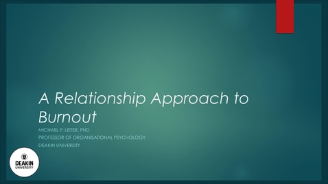 Thumbnail for entry Burnout 7 - Working relationships - Part 2 - Supervisors