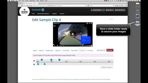 Thumbnail for entry DeakinAir: Timeline functions in Edit mode