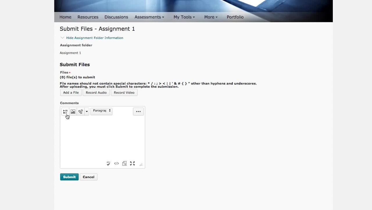 CloudDeakin: how to submit a video as an assignment