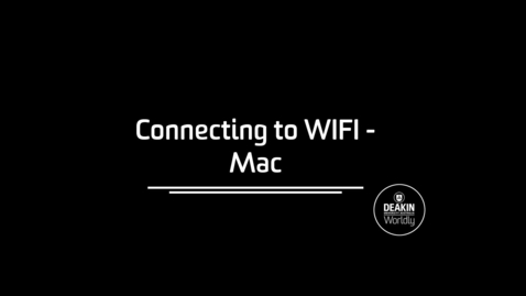 Thumbnail for entry Connecting to Eduroam Mac
