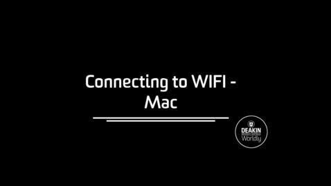 Thumbnail for entry Connecting to Eduroam Mac