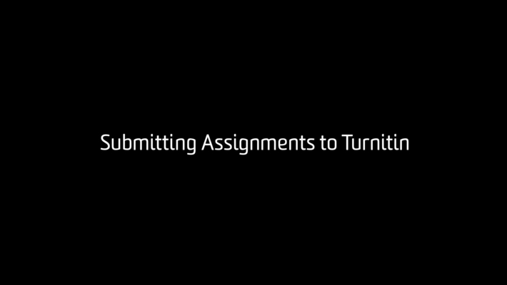 Submitting Turnitin Assignment